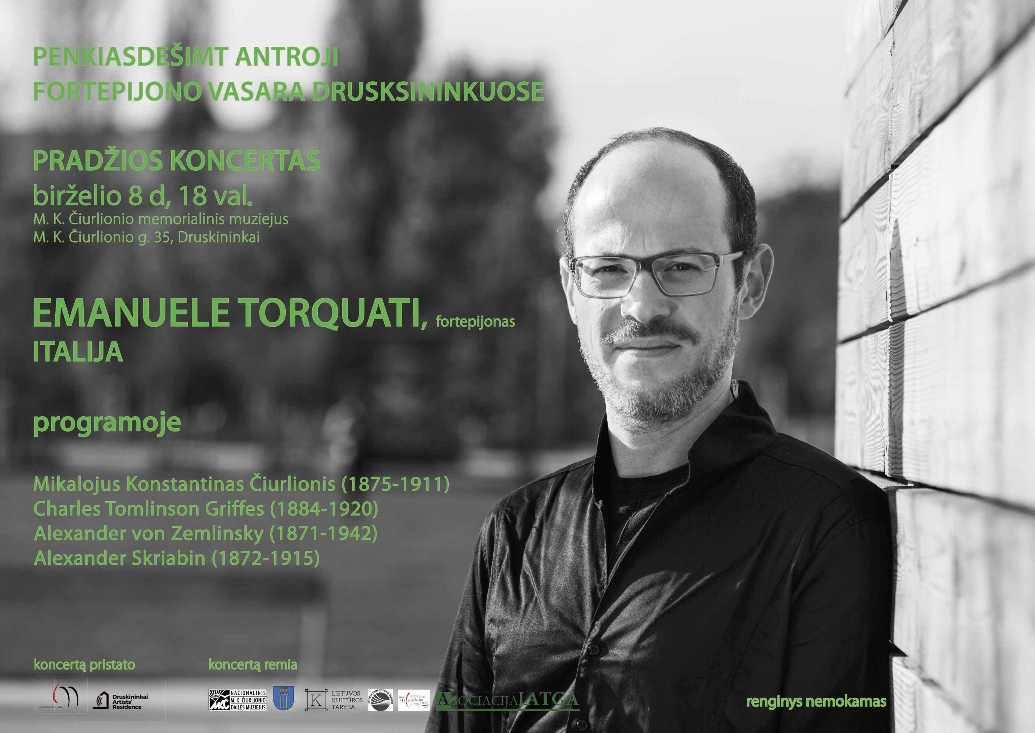 Emanuele Torquati plakatas Druskininkai